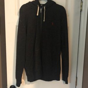 Polo zip up sweat jacket